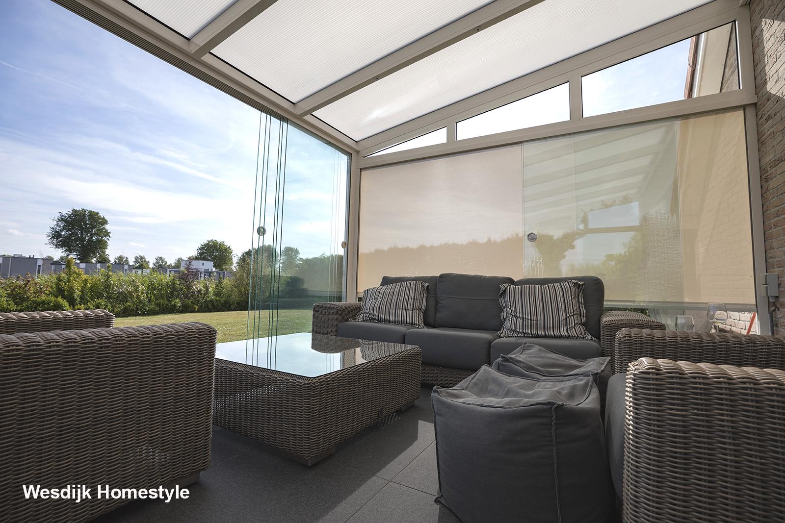 Oprolbare windschermen veranda oprolbaar windscherm veranda maatwerk oprolbare windschermen - Gespannen terras ...